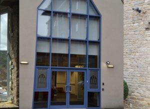 French Doors in curtain walling